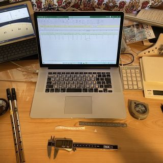 ティン・ホイッスルのデータを計測しています!